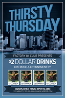 Thirsty Thursday Flyer Design by xstortionist