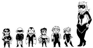 Teeny Young Avengers by McMitters