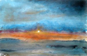Beach Sunset Inspired By Deborahreal by artmeb