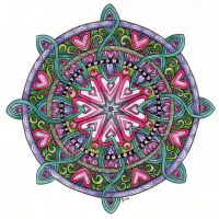 Web of Love Mandala by Artwyrd
