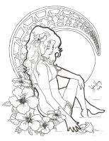 Book of Dreams H Black and White by jenniferillustrates