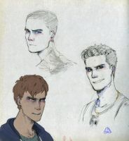 The raven cycle: Ronan, Adam and Kavinsky by 3Nun