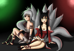 League of Legends - Ahri and Riven by JackJasra