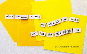 The Daily Magnet #157 by FridgePoetProject