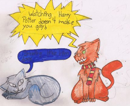 Harry Potter cats by cassi2009