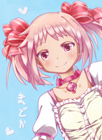 A preview of my new fanart Madoka by KarolinaMixiao