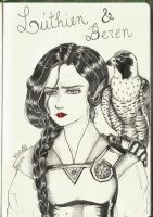 Luthien and Beren by HikariSama2007