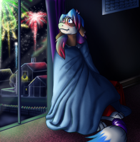 Fireworks by the window sill by coyotepack