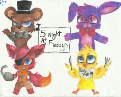 Five Night At Freddy by RedNoctali