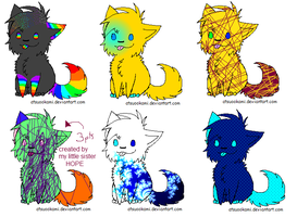 Chibi Cat Adopts by rainbows8me
