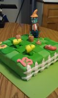 Plants vs Zombies Cake by cakesbyrachel