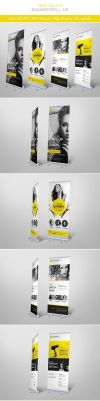 Hair Salon Banner Roll-up by hoanggiang12