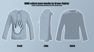 MMD edited male hoodie(updated)+DL by Sefina-NZ