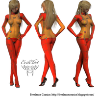 Asuka Plug Suit Test by EvilEliot