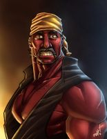 the Red Hulk Hogan by mohammedAgbadi