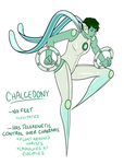 Chalcedony with Weapons by fairygodpiggy