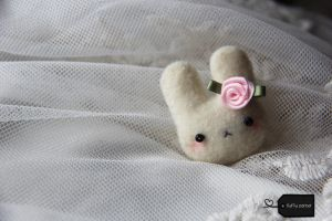needle felted Bunny (for sale) by FluffyParcel