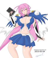 Jibril Astraea cosplay color by FrankiGarcia