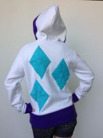 Rarity Fleece Cosplay Hoodie - Back by Weeaboo-Warehouse