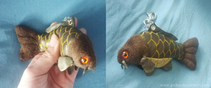 Commission: Fresh water carp - plush key chain 2 by goiku