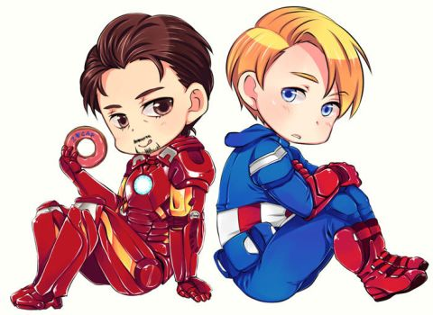 captain america and ironman by anubis0055