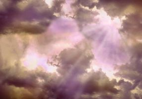 clouds and light rays by elisafox-stock