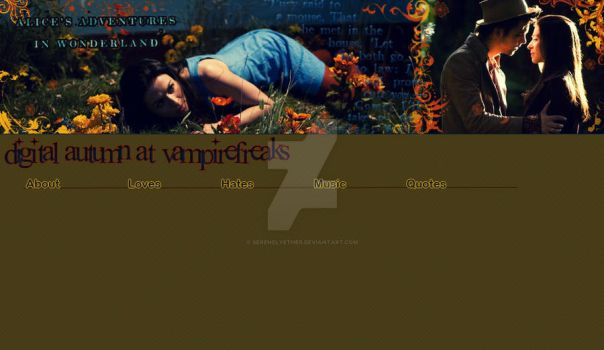 My VF Layout- SyFy's Alice by SerenelyEther