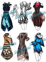 Butterfly dress designs by Animatics