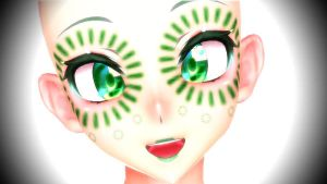 MMD green magic face DL by WorstSweetAddiction