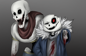 Horrortale Sans and Papyrus (+speedpaint) by SafulousArt