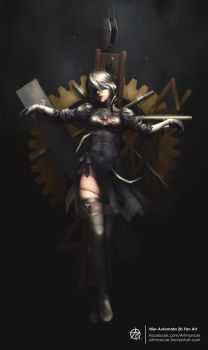 Nier Automata 2b Fan Art by ArtmanceR