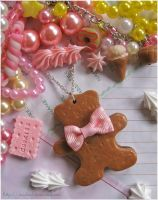 *Teddy Cookie necklace* by decoland
