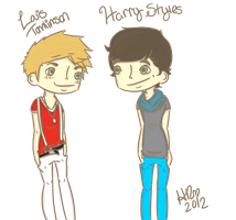 Harry Styles and Louis Tomlinson by HannahRenae