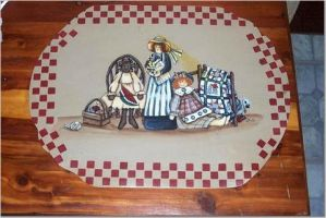 Country Dolls placemat by didi1959