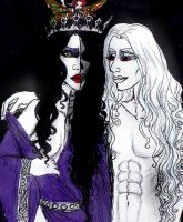 hel and ullr by Dollysmith