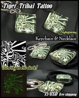 Tiger Keychain and Necklace SOLD OUT by J-C