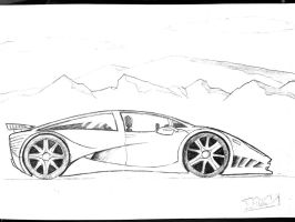 Sports Car drawing by gkn112