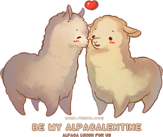 Happy Alpacalentines by Qinni