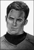 Chris Pine - Captain Kirk by scary-scenes