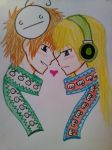 Cry and Pewdelia (Female pewdiepie) by florano