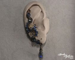 Mad scientist steampunk ear cuff by bodaszilvia
