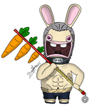 Hidan Rabbid - redrawn !! by AlienaXLoK
