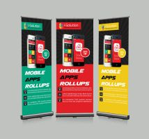 Mobile App Roll Up Banners Template by Designhub719