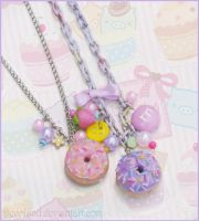~ Donut charm necklaces ~ by decoland