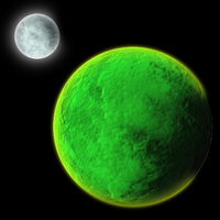 Planet and its Moon by Azurada