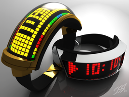 Daft Punk watch set concept by simonrance