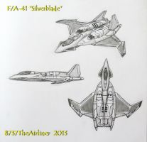 F/A-41 Silverblade Stealth Fighter by B737TheAirliner