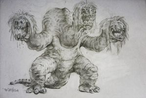 3 sisters monster sketch by TheGurch