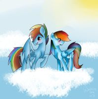 Rainbow Dash and Rainbow Blitz by warriorjayfrost
