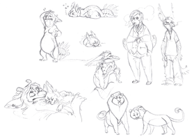 Sketches I compiled this morning by VCR-WOLFE